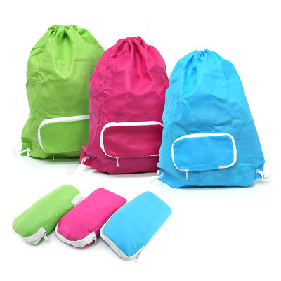 AMBM-2002 Foldable Drawstring Bag with Zip